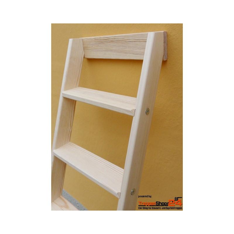 hochbettleiter stufen anlegeleiter konfigurierbar treppenshop24. Black Bedroom Furniture Sets. Home Design Ideas