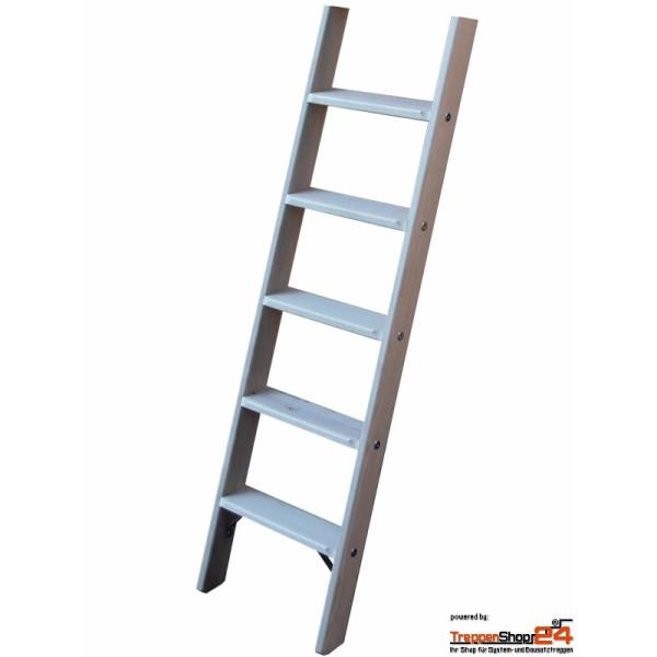 Bevorzugt Hochbettleiter - Stufen-Anlegeleiter konfigurierbar - TreppenShop24 WD22