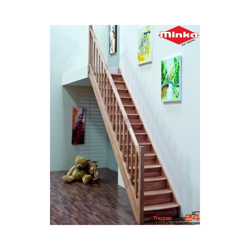raumspartreppe home gerade fichte treppenshop24. Black Bedroom Furniture Sets. Home Design Ideas