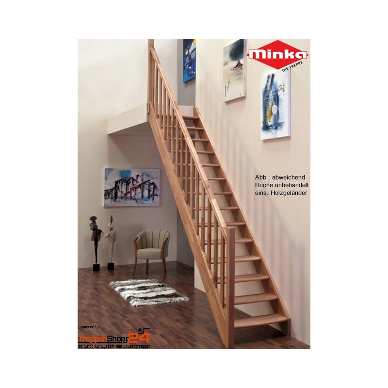 raumspartreppe classic gerade fichte treppenshop24. Black Bedroom Furniture Sets. Home Design Ideas