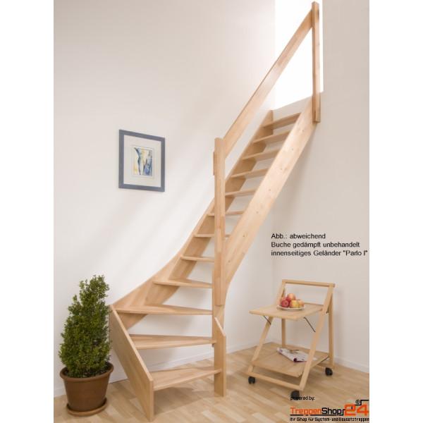 raumspartreppe solling 1 4 gewendelt treppenshop24. Black Bedroom Furniture Sets. Home Design Ideas