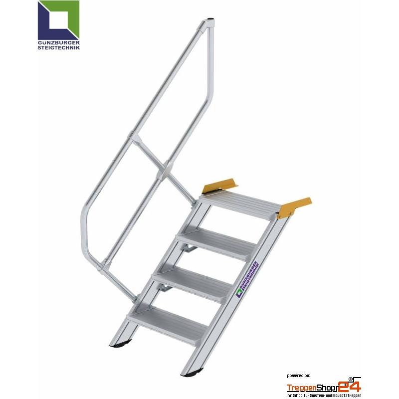 aluminium treppe 45 4 stufen bis h he 83 cm treppenshop24. Black Bedroom Furniture Sets. Home Design Ideas