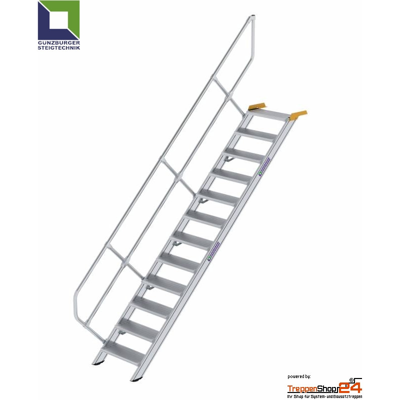 Favorit Aluminium Treppe 45° 12 Stufen bis Höhe 250 cm - TreppenShop24 XS42