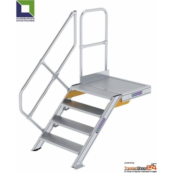 Aluminium Treppe 45 Mit Podest Treppenshop24
