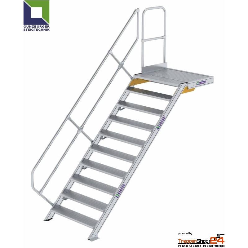 Aluminium Treppe 45 Mit Podest 11 Stufen Hohe Bis 229 Cm Treppensho