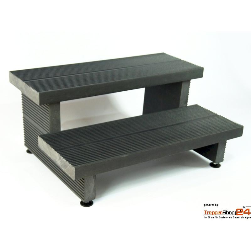 treppe 2 stufen aus kunststoff treppenshop24. Black Bedroom Furniture Sets. Home Design Ideas