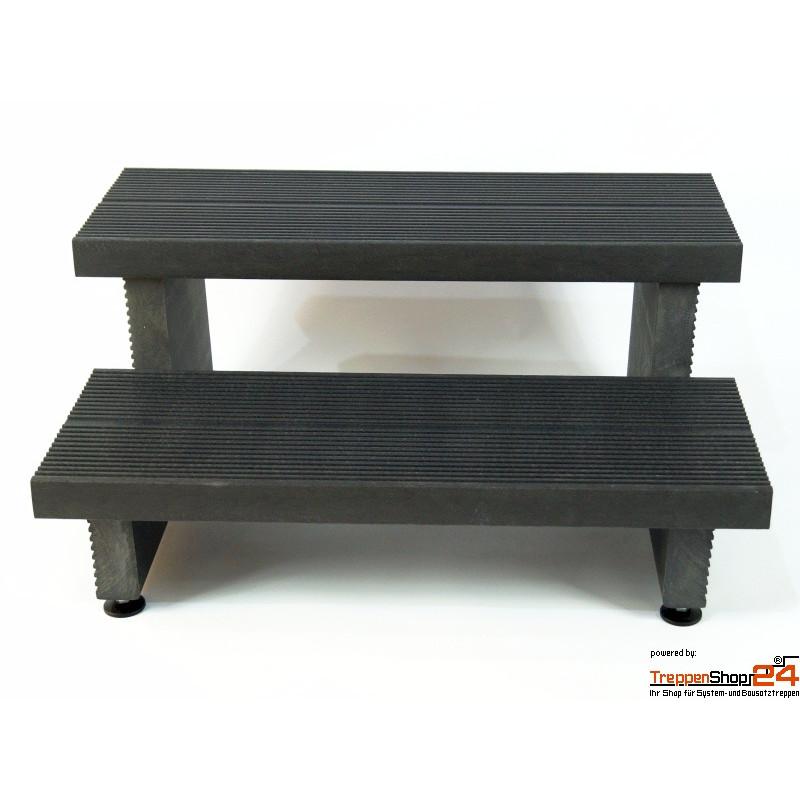 au entreppe rekustep treppe 2 stufen aus kunststoff treppenshop24. Black Bedroom Furniture Sets. Home Design Ideas