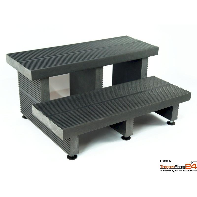 rekustep treppe 2 stufen aus kunststoff treppenshop24. Black Bedroom Furniture Sets. Home Design Ideas